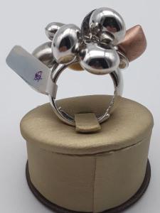 Anello donna in argento con ciondoli Fantasia e quarzo fumè vendita on line | BRUNI GIOIELLERIA
