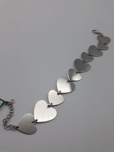 Bracciale donna in argento 925 con cuori vendita on line | BRUNI GIOIELLERIA