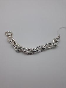 Bracciale donna in argento a catena, vendita on line   GIOIELLERIA BRUNI Imperia