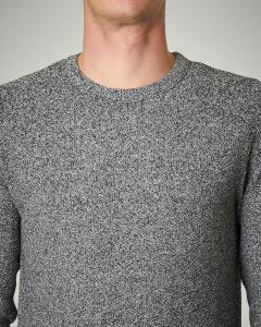 Maglia grigia in cotone punto riso