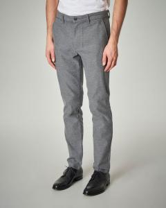 Pantalone grigio in cotone elasticizzato