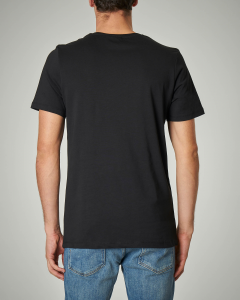 T-shirt nera con stampa Mickey Mouse