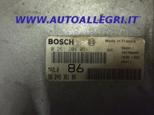 ECU CENTRALINA MOTORE Bosch Citroen Peugeot 106 1.0 9624936180, 0261204051