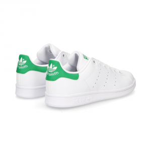 SNEAKERS ADIDAS STAN SMITH J M20605 WHITE/GREEN ORIGINALS
