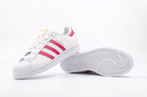 SNEAKERS ADIDAS SUPERSTAR FOUNDATION J B23644 WHITE/PINK