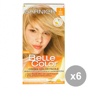 Set 6 Belle Color 1 Blonde Clear Natural Products For Hair