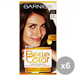Set 6 BELLE COLOR 24 Castano Scuro Naturale Prodotti per capelli