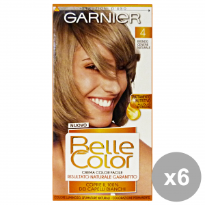 Set 6 BELLE COLOR 4 Biondo CENERE Naturale Prodotti per capelli