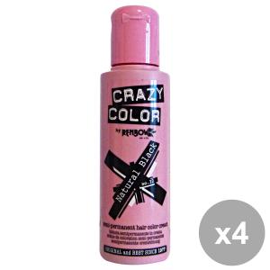 Set 4 CRAZY COLOR 32 NaturaL BLACK 100 Ml. Prodotti per capelli