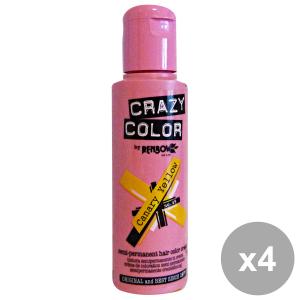 Set 4 CRAZY COLOR 49 CANARY YELLOW 100 Ml. Prodotti per capelli