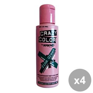 Set 4 CRAZY COLOR 46 PINE GREEN 100 Ml. Prodotti per capelli
