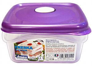 BAMA Contenitori Plastica Con Sfiato 1 Lt Quadro Articolo 46010 Per Alimenti