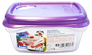 BAMA Contenitori Plastica Con Sfiato 0,75 Lt Quadro Articolo 46075 Per Alimenti