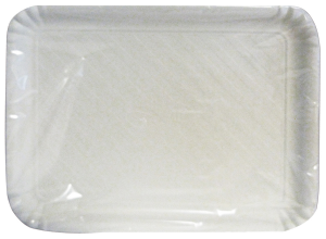 Tray Card Rettan.bianco Biodeg.29x38 Cm * 2 Pieces - Basins For foodstuffs