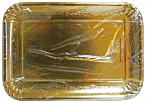 Tray Card Rectangular Gold 21x31 Cm * 3 Pieces 63070 - Basins For Foodstuffs