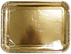 Tray Card Rectangular gold 31x42 Cm * 2 Pieces 63076 - Basins For foodstuffs