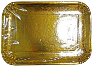 Tray Card Rectangular Gold 25x34 Cm * 3 Pieces 63072 - Basins For Foodstuffs