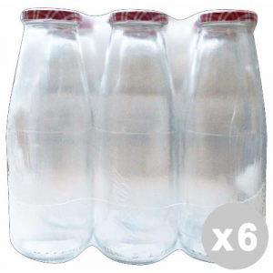 Set 6 Glass bottle Per pass 720 Cc. With Cap