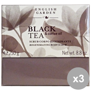 Set 3 ATKINSONS Scrub Body Black TEA Vase 250 ml Body care