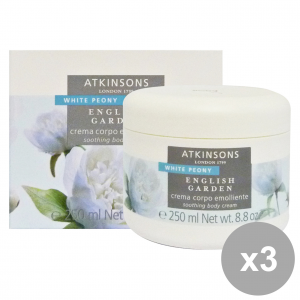 Set 3 Atkinsons Cream Body White Peony Vase 250 Ml Body Care