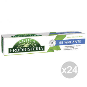 Set 24 ANTICA ERBORISTERIA Pasta de dientes 75 ml Blanqueamiento Salvia y menta Cuidado Higiene Dental