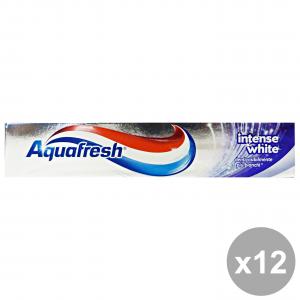Set 12 AQUAFRESH Dentifricio INTENSE WHITE 75 Ml. Prodotti per il viso