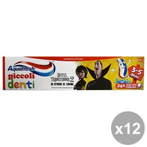 Set 12 AQUAFresh Dentifricio PICCOLI DENTI 3-5 ANNI 50 Ml.  Prodotti per il viso