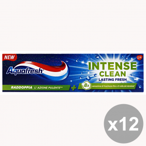 Set 12 AQUAFRESH Dentifricio INTENSE Clean LASTING Fresh 75 Ml. Prodotti per il viso