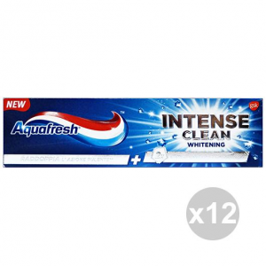 Set 12 AQUAFRESH Dentifricio INTENSE Clean WHITENING 75 Ml. Prodotti per il viso