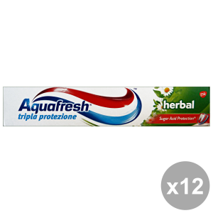 Set 12 Aquafresh Toothpaste Herbal 75 Ml Products For The Face