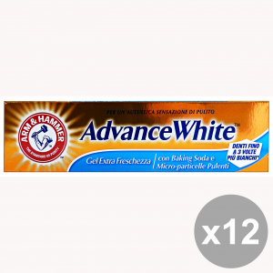 Set 12 ARM & HAMMER Dentifricio ADVANCE WHITE Gel Freschezza 75 Ml. Prodotti per il viso