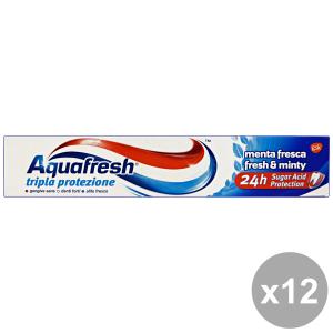 Set 12 AQUAFRESH Dentifricio TRiparazione LA Protezione 75 Ml. Prodotti per il viso