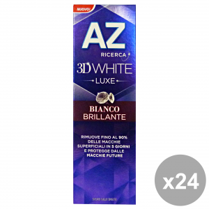 Set 24 Az Toothpaste 3d Luxe White Brilliant 75 Ml Products For The Face