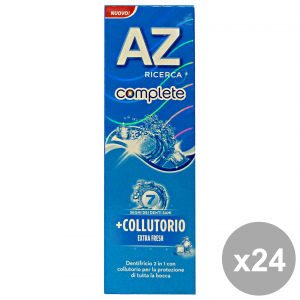 Set 24 Az Toothpaste Complete + Mouthwash Extra Fresh 75 Ml Products For The Face