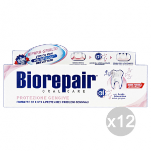 Set 12 BIOREPAIR Dentifricio Protezione Gengive 75 Ml Cura E Igiene Dentale