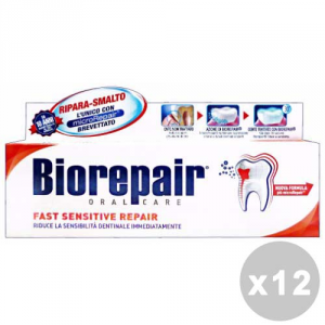 Set 12 Biorepair Toothpaste Sensitive 75 Ml Products For The Face