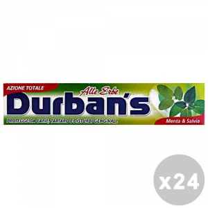 DURBAN'S Set 24 DURBAN'S Dentifricio erbe menta/salvia 75 ml. - dentifrici