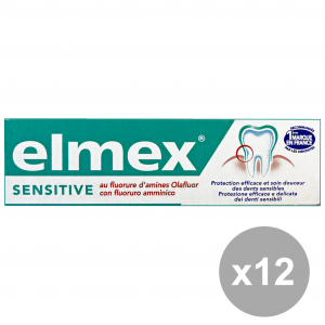 Set 12 ELMEX Dentifricio Sensitive 50 Ml. Prodotti per il viso
