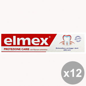 Set 12 Elmex Toothpaste Protection Caries 75 Ml Products For The Face