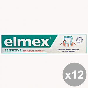 Set 12 ELMEX Dentifricio Sensitive 75 Ml.  Prodotti per il viso