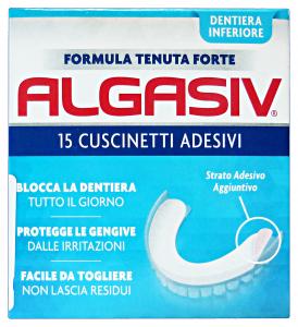 ALGASIV Cuscinetti Adesivi Inferiore *15 Pezzi Prodotti per denti e viso