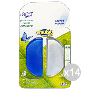 Set 14 EMULSIO Cattura Odori Diffusore Ricarica Profumatore Ambiente