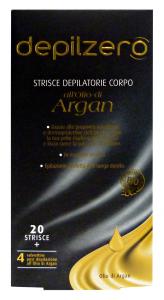 DEPILZERO Argan strisce corpo X 20 pz. - Depilatori