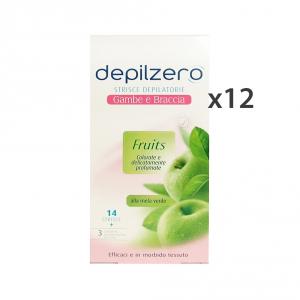 Set 12 DEPILZERO Strisce Corpo Frutta X 14 Pezzi Cura del corpo