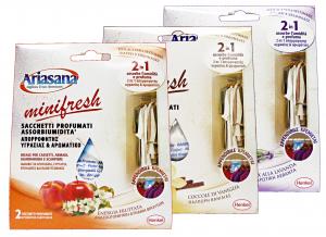 ARIASANA 2buste Minifresh 2 en 1 Absorbiumidity - Accesorio Para la Casa