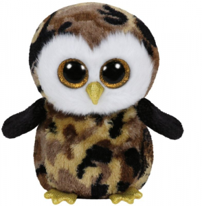 TY Beanie Boos 28Cm Owliver Uccello Volatile Peluches Giocattolo 452