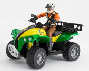 BRUDER Quad Con Figura Jeep Quad Gioco Maschio Bimbo Bambino Giocattolo 730