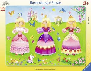 RAVENSBURGER Puzzle Encadré Disney Princess encadrée et Interlocking 904