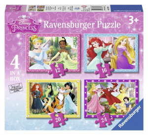 RAVENSBURGER Puzzle 4 In A Box Princesse Disney Puzzle Toy 704