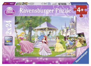 RAVENSBURGER Puzzle 2X24 Pezzi Principesse Disney Puzzle Giocattolo 639